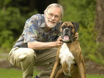 David with dog