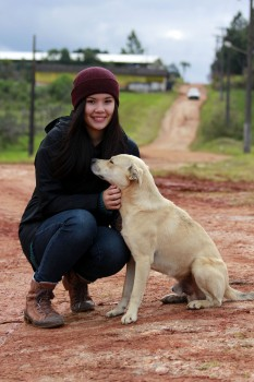 Eugenia with cachorro